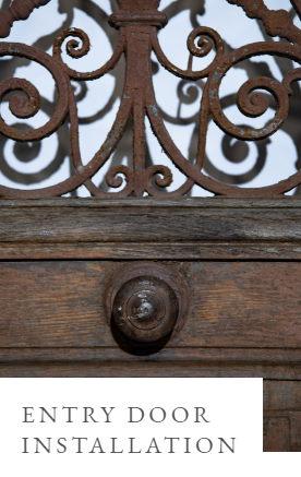custom iron entry door installation